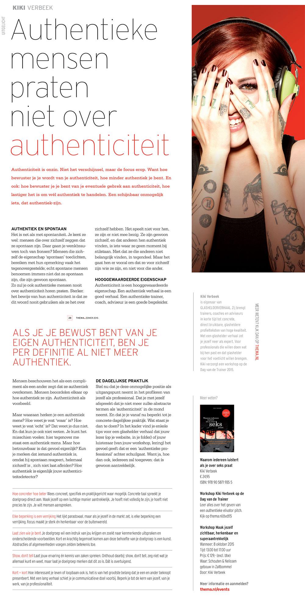 ArtikelThemaMagazineAuthenticiteit